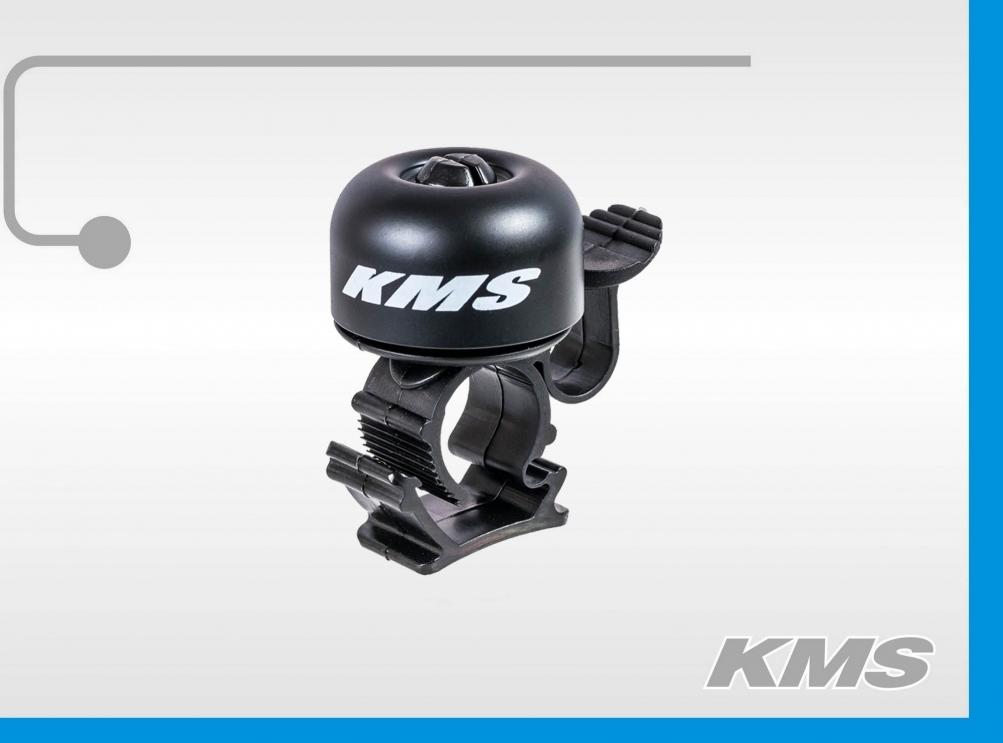 Звонок для велосипеда KMS, медный, большой, 5 цветов 3293035-24, код 10165