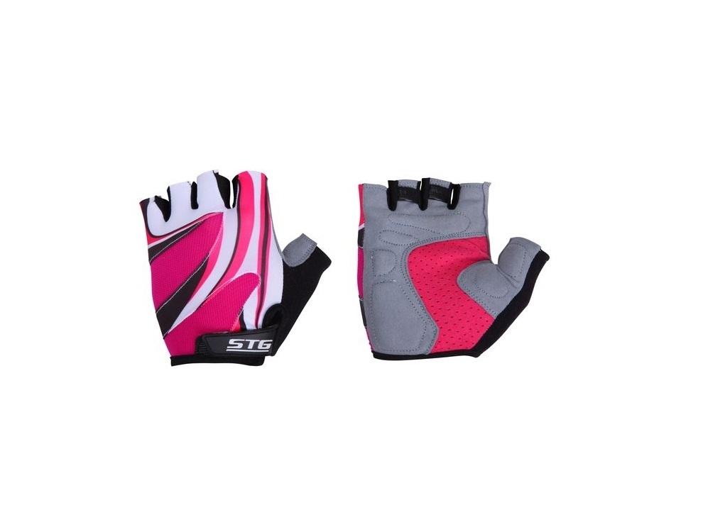 Перчатки велосипедные STG 61901 (кожа+лайкра) LADY