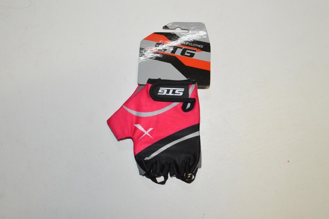 Перчатки велосипедные STG 61872 (кожа+лайкра) LADY