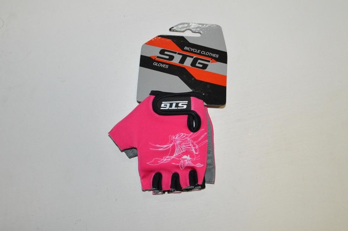 Перчатки велосипедные STG 61898 детские GIRL