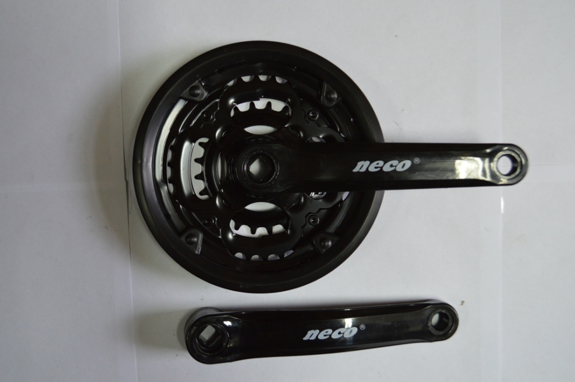 Шатун комплект спорт. 26 24/34/42 сталь NECO в пластике 170мм
