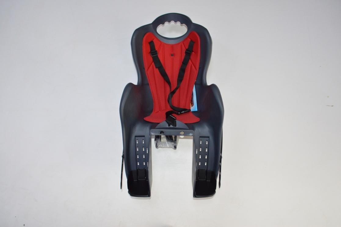 Велокресло детское на раму, крепеж за подседельную трубу, модель Elibas T, Цвет: темно-серый, код 92070534