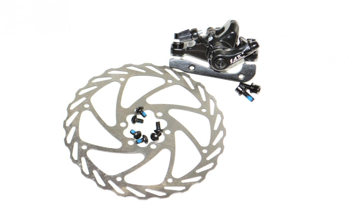 Калипер дискового тормоза JAK 8 160мм задний R+ротор, код 41123